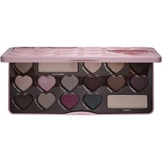 Too Faced Chocolate Bon Bons Palette ($49) ❤ liked on Polyvore featuring beauty products, makeup, eye makeup, eyeshadow, shimmer eyeshadow, shimmer eye shadow, palette eyeshadow, matte eye shadow and eye shimmer makeup