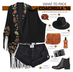 """Pack for Coachella!"" by palmtreesandpompoms ❤ liked on Polyvore featuring French Connection, Lipstik, Chicnova Fashion, BeckSöndergaard, One Teaspoon, Hawaiian Tropic, Sole Society and packforcoachella"