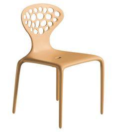 Supernatural Stapelbarer Stuhl in beige von Moroso