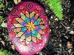 Que piedra Mandala Magenta por rockdalas en Etsy