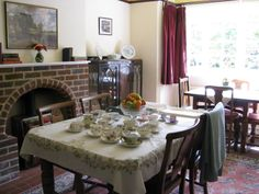 Dining room at the Kilns by Melanie M. Joy Davidman, Granny Chic, Cs Lewis, Hard Times, Don't Give Up, Narnia, Tolkien, Real Life, Blankets