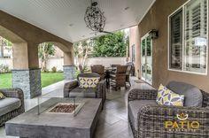 Patio Warehouse Inc. Custom Designed U0026 Built This Outdoor Living Area,  Including Custom Wood