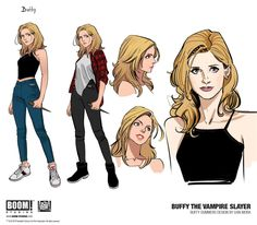 Buffy the Vampire Slayer and the Scooby Gang is back with a brand new look in an upcoming series from BOOM Studios! Female Character Design, Character Design References, Character Drawing, Character Design Inspiration, Fantasy Character, Buffy Summers, Buffy Im Bann Der Dämonen, Desenhos League Of Legends, Boom Studios