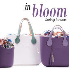 Fiori grafici fioriscono su #Obag, O bag mini e O basket per borse dai mille colori!