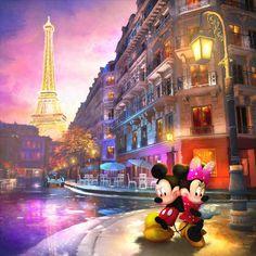 """""""Love in Paris"""" by Joel Payne, Disney Illustrator"""