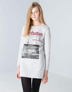 Bershka Ukraine - BSK cities long sweatshirt