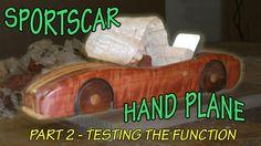 Hand Plane shaped like a Sports Car - Testing and using hand plane