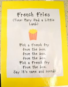 It's a Preschool Party: I'll Have a Side of Fries with My Alphabet