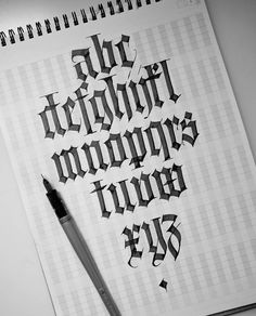 I appreciate this after learning how important nib width is! I appreciate this after learning how im Calligraphy Qoutes, Calligraphy Letters Alphabet, Calligraphy Tutorial, Calligraphy Drawing, Learn Calligraphy, Typography Letters, Calligraphy Handwriting, Gothic Lettering, Tattoo Lettering Fonts