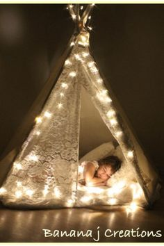 I need to make one of these teepees for Tenley!! I'm sure I could make it cheaper than the $200 they are online.