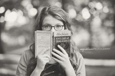 Posh Poses   Solo   Quirky   Showcasing Hobbies & Interests   Books   Glasses   Focus   Senior Girls