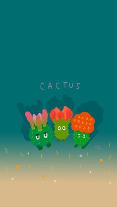 Cactus_ iphone5 wallpapers by Heekyeong Kim, via Behance