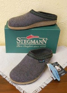 Stegmann Woolfelt Cork Clogs 11 M Women Stone/Gray Winter Warm Comfy Cute New #Stegmann #Clogs #Casual