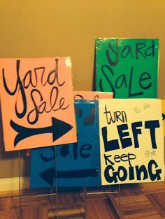 Best Yard Sale Tips Ever!! Garage Sale Signs, Yard Sale Signs, For Sale Sign, Yard Sales, Thrifting, Garage Sale Organization, Organizing, Rummage Sale, Bake Sale
