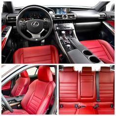 lexus is250 f sport white red interior - Google Search
