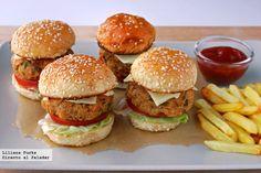 Mini hamburguesas de salmon