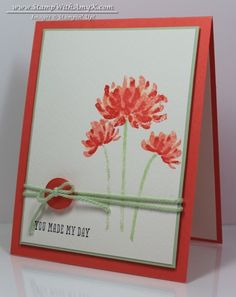 Too Kind - Stampin' Up! - Stamp With Amy K. reflection technique