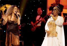 Aretha Franklin with Mariah Carey #ArethaSings