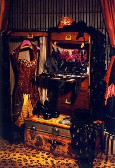 ...never thought of this before... but how incredible would a burlesque closet/dressing room be?
