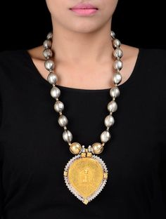 Buy Silver Golden Tribal Necklace by Amrapali Jewelry Scintillating Hand Crafted Two Toned Online at Jaypore.com