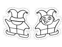 Fichas de Inglés para niños: Títeres de carnaval para colorear Boys, Fictional Characters, Mardi Gras, Puppet, Infant Crafts, Free Coloring, Easter, Index Cards, School