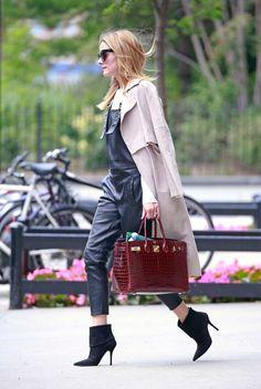 Olivia Palermo wearing Birkin Hermes #SOPHIA #SophiaHandbags www.sophia.pt
