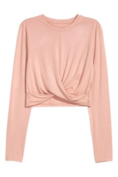 Short jersey top | Peach | LADIES | H&M ZA