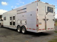 LQ, 12 dog and horse area stock style Car Trailer, Utility Trailer, Horse Trailers, Custom Trailers, Trailers For Sale, Aluminum Trailer, Dog Carrier, Recreational Vehicles, Custom Design