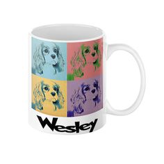 New arrival: Wesley King Charl... - limited quantity available! Buy it here: http://www.swankybazaar.com/products/wesley-king-charles-spaniel-pop-art-coffee-mug-11-or-15-oz?utm_campaign=social_autopilot&utm_source=pin&utm_medium=pin