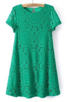 Sweet Crochet Lace Shift Tunic Top - OASAP.com
