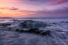 "Wishing Well. by Brian Adelberg on 500px. ""Waves and water cascade into a 20ft. hole off the central Oregon coast."""