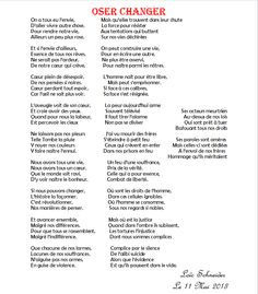 //46 Oser Changer  - #poeme #poesie