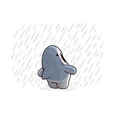 "Cute and funny art by Moha Arimura アリムラモハ on Instagram: ""ショーシャークの空に The ShawSHARK Redemption"" Cute Wallpaper Backgrounds, Cute Cartoon Wallpapers, Disney Wallpaper, Cute Animal Drawings, Cute Drawings, Images Kawaii, Shark Drawing, Shark Art, Cute Shark"