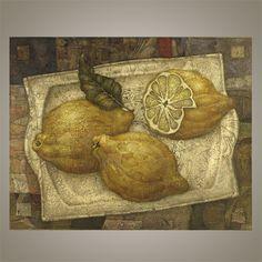 """Картина """"Лимоны на серебре"""" Alexander Sigov"""