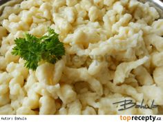 Bramborové špecle Slovak Recipes, Czech Recipes, Ethnic Recipes, Snack Recipes, Cooking Recipes, Snacks, Potato Dishes, Naan, Risotto