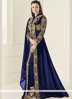 497638 Blue color family Bollywood Salwar Kameez in Faux Georgette fabric with Machine Embroidery,Resham,Sequence,Thread,Zari work . Anarkali Dress, Anarkali Suits, Pakistani Dresses, Indian Dresses, Indian Outfits, Lehenga Choli, Pakistani Clothing, Indian Anarkali, Long Anarkali