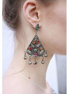 Bohemian Rose Vintage 1970's Ethnic Festival Drop Earrings. Buy @ http://thehubmarketplace.com/1970s-Ethnic-Festival-Drop-Earrings