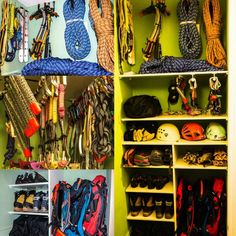 Climbing Gear storage sorted. Was so simple to do