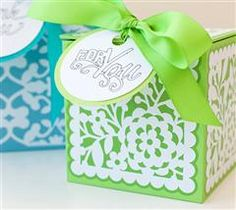 Make It Now With Cricut Explore - Decorative Lace Boxes Are Perfect For Party Favors!