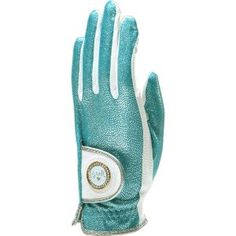 Mrs Golf - Ladies Golf Apparel, Shoes, Accessories - Glove It Bling Golf Glove-Aqua