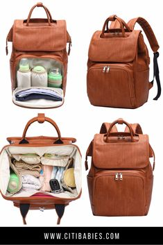 Citi Explorer in Vintage Tan - Diaper Bags - Ideas of Diaper Bags - How is this possibly a diaper bag? A beautiful backpack with all of the diaper bag essentials is a must have and Citi Babies nailed it. Best Diaper Bag, Baby Diaper Bags, Diaper Bags For Boys, Diaper Rash, Buy Backpack, Diaper Bag Backpack, Trendy Diaper Bags, Cheap Diaper Bags, Baby Rucksack
