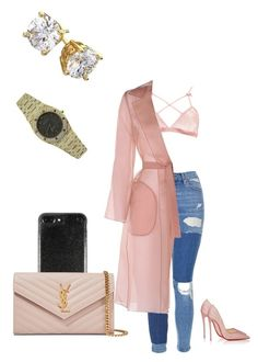 """""""Out shopping"""" by trendyhoee on Polyvore featuring Topshop, Christian Louboutin, Boohoo, MaxMara, Yves Saint Laurent and Audemars Piguet"""