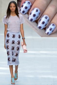 MANICURE MUSE: Burberry Prorsum Spring '14 The beauty is in the details… Click through to see how to get the gorgeous Burberry L...u