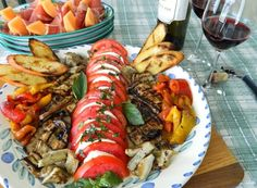 Alex Keating posted Sicilian Antipasto Platter (Eggplant, bell peppers, artichokes, tomatoes, mozzerela) to his -food stuff- postboard via the Juxtapost bookmarklet. Appetizer Display, Appetizer Dips, Healthy Cooking, Healthy Eating, My Favorite Food, Favorite Recipes, Sicilian Recipes, Sicilian Food, Antipasto Platter