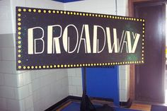 party props decorations new york theme broadway sign props