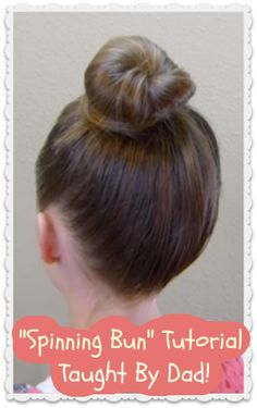Cute dad and daughter hair tutorial, how to make a bun