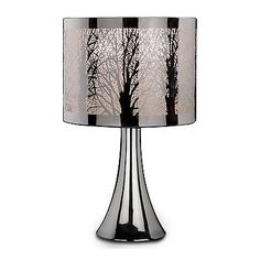 Beau New Silver #chrome Tree Scene Dimmer Touch #light #table Desk Lamp Bedside  Bedroo