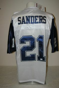 558639eb0 Deion Sanders Autographed White Dallas Cowboys Jersey JSA Witness Cert  Dallas Cowboys Jersey