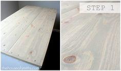 Faux Barn Wood DIY. Great idea!