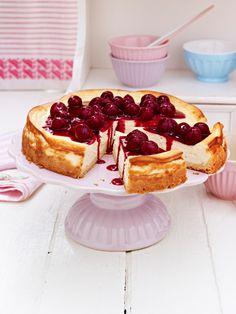 Dieser Kuchen ist der Wahnsinn! Cheesecake mit Kirschen. ZUM REZEPT >>>